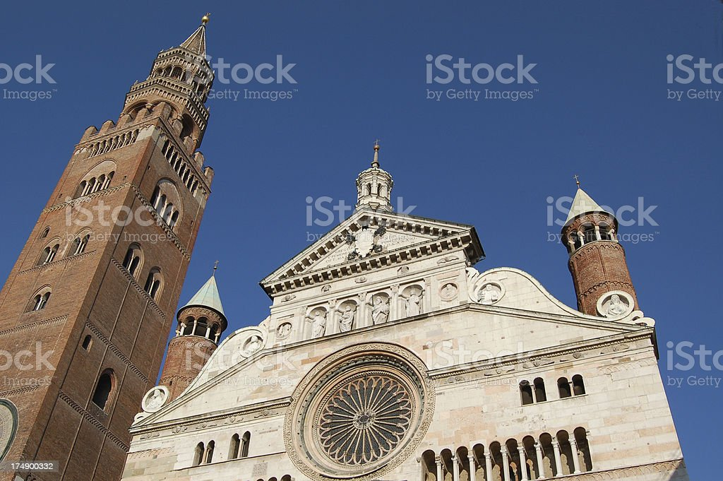 Dome and Tower of Cremona stock photo