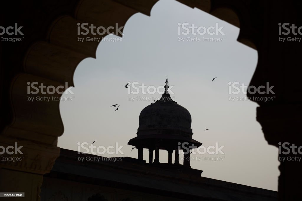 Dome at Agra Fort stock photo