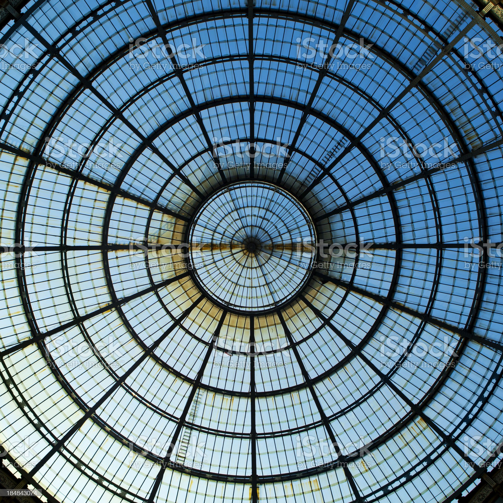 Dome at Galleria Vittorio Emanuelle II royalty-free stock photo