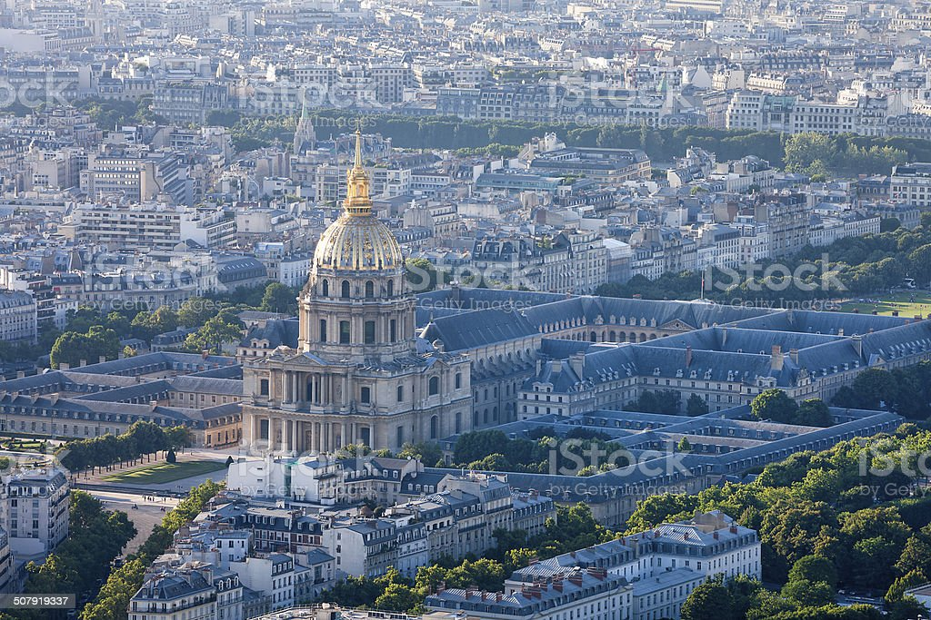 Dome Church at Les Invalides, Invalides Quarter in Paris, France royalty-free stock photo