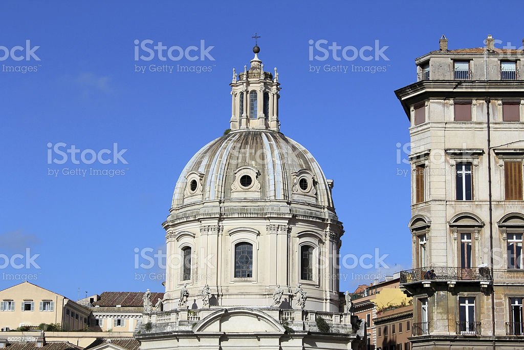 Dome Church, Rome, Italy royalty-free stock photo
