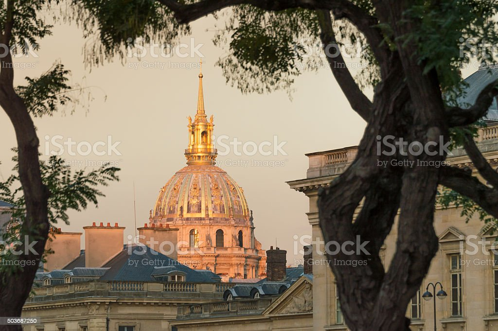 Dome des Invalides, Paris, France stock photo