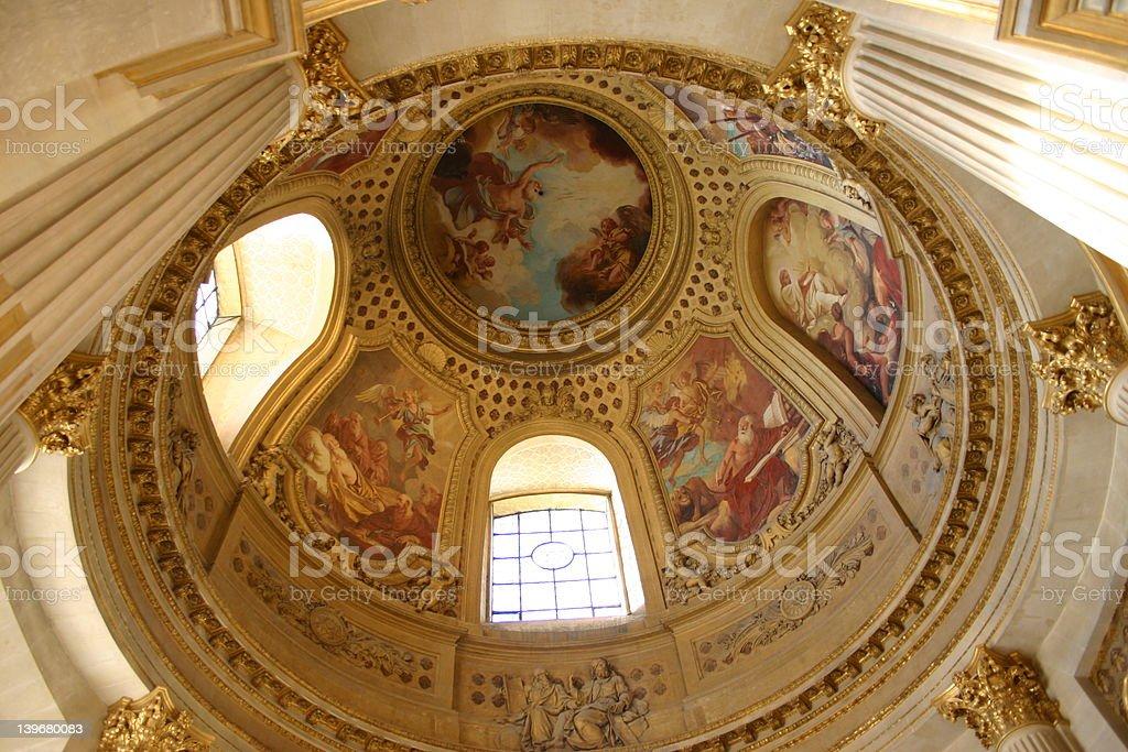 dome des invalides, paris royalty-free stock photo