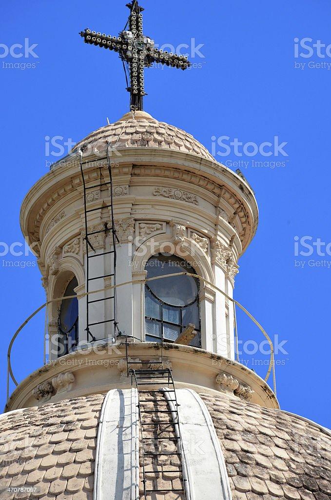 Dome detail - lantern, tambour and cupola stock photo