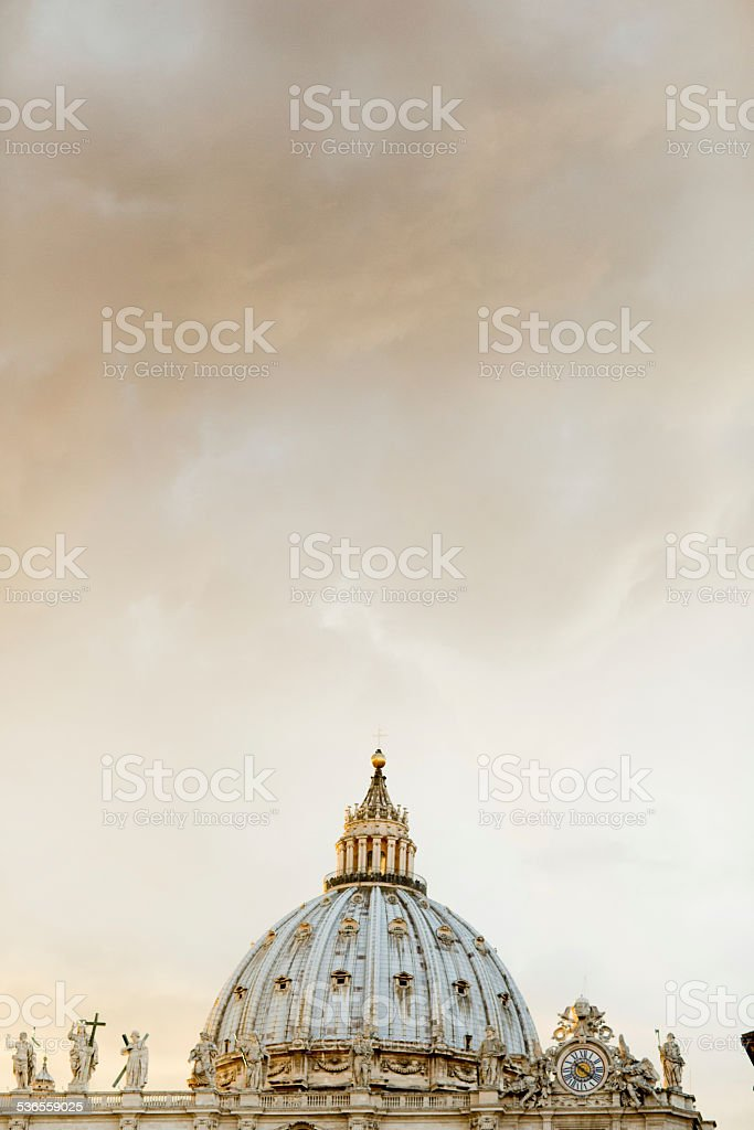 Dome in Rome stock photo