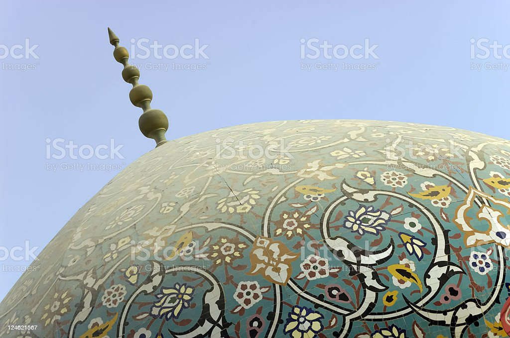 dome of a mosque in manama royalty-free stock photo