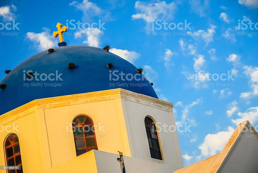 Dome of an Orthodox Church stock photo