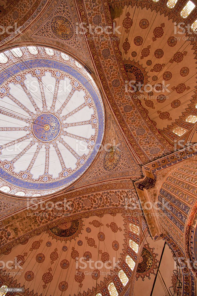 dome of blue mosque stock photo