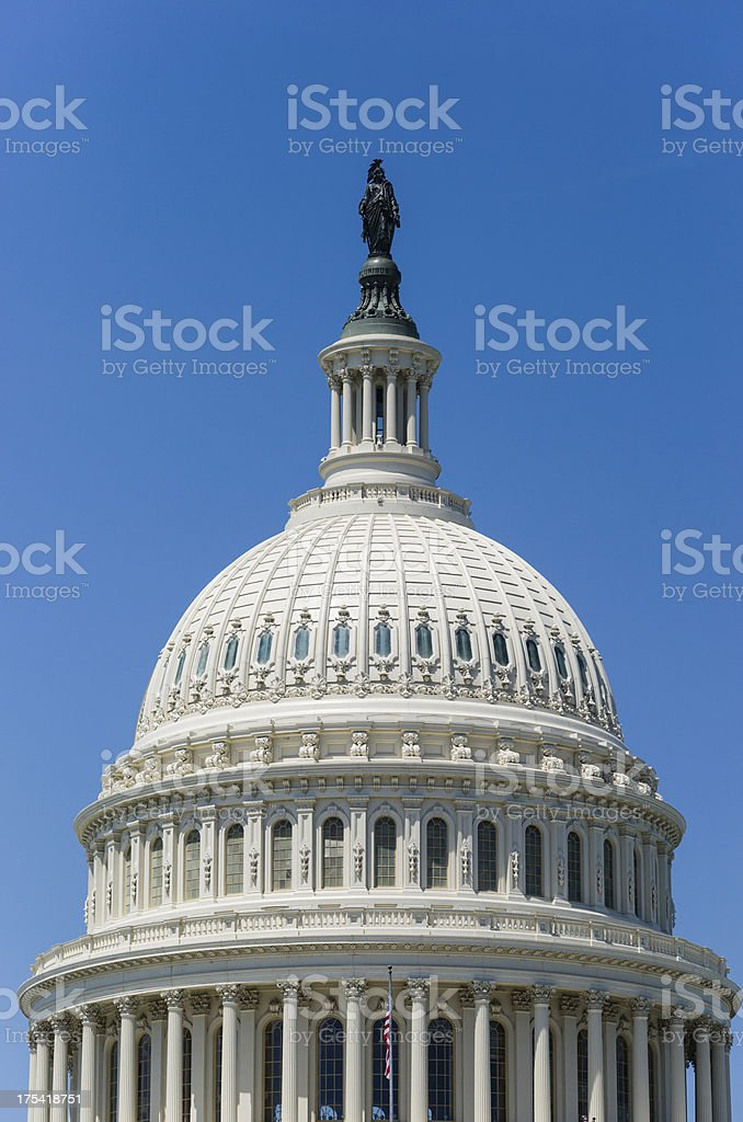 Dome of Capitol Building, Washington, D.C. USA stock photo