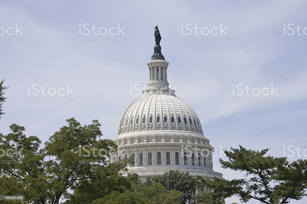 dome of capitol stock photo