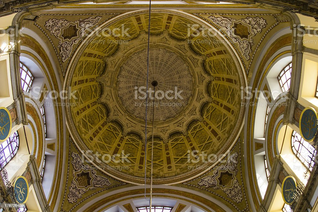 Dome of Dolmabahce Mosque royalty-free stock photo