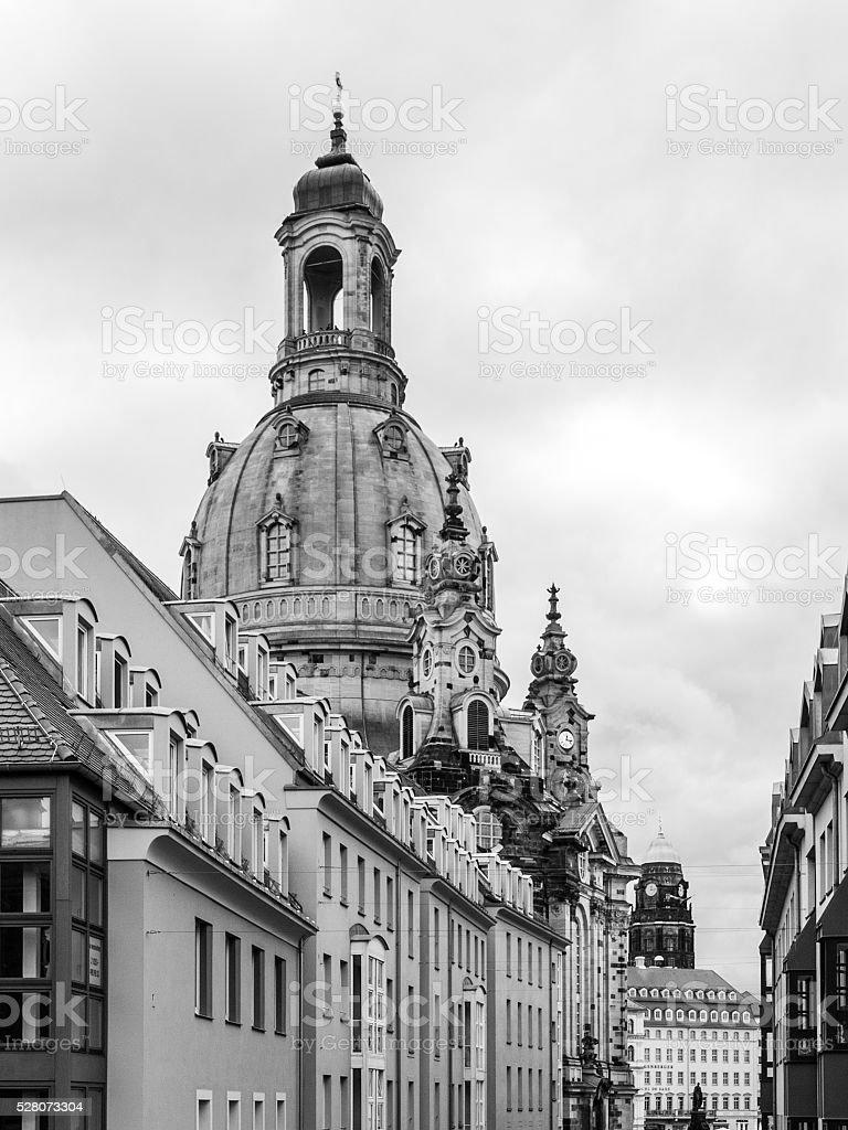 Dome of Dresden Frauenkirche stock photo