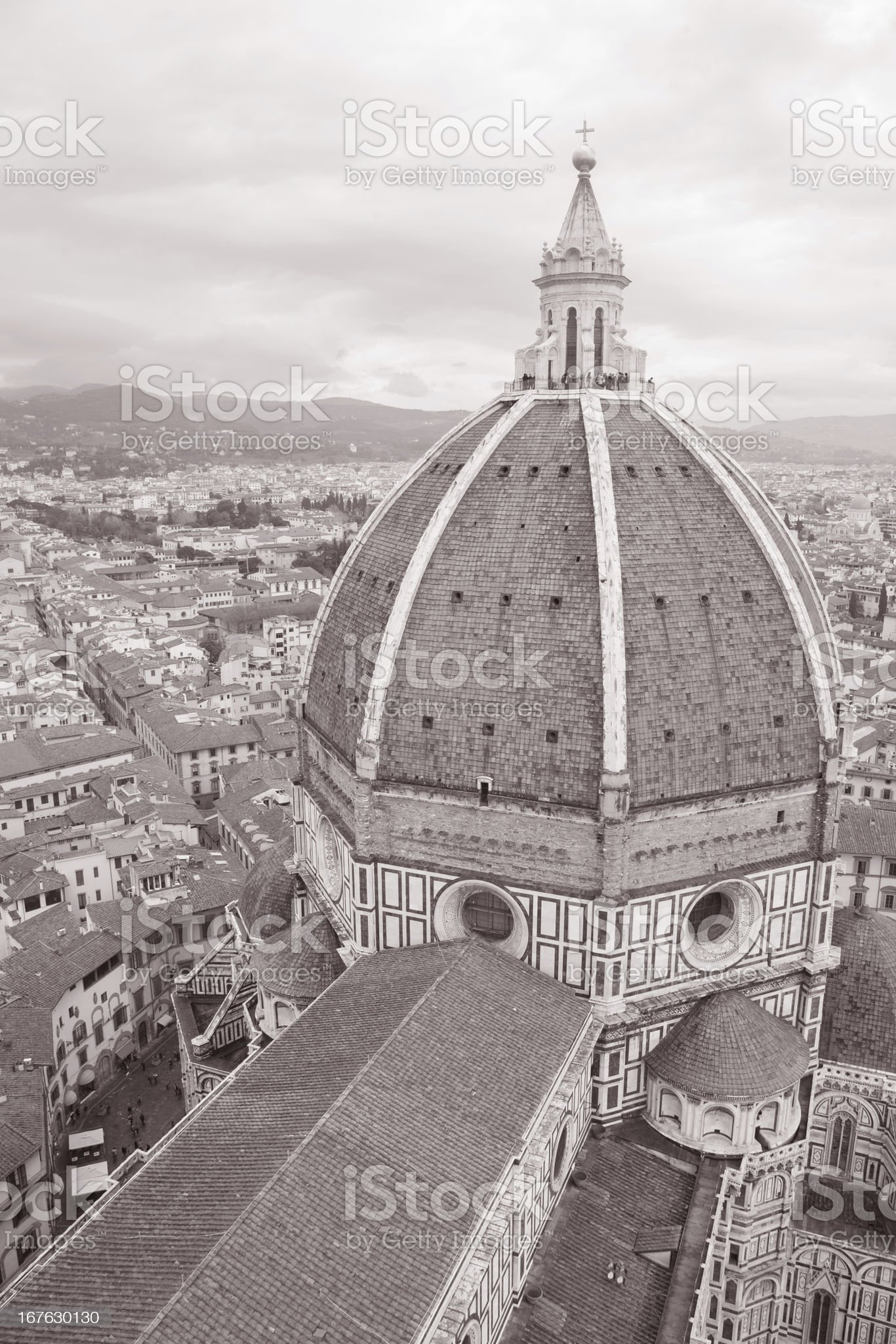 Dome of Duomo Cathedral Church, Florence royalty-free stock photo