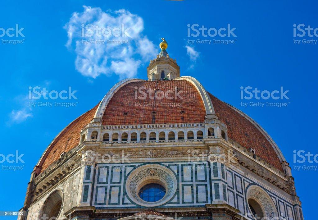 Dome of Florence Cathedral, Basilica di Santa Maria del Fiore stock photo