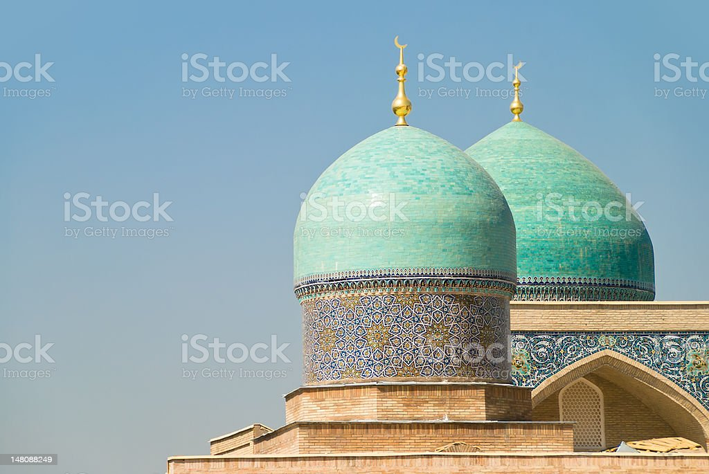 Dome of Hast Imam mosque, Uzbekistan stock photo