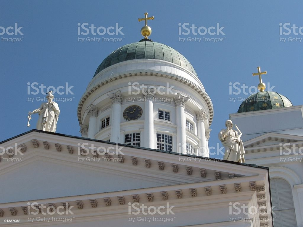Dome of Helsinki Cathedral royalty-free stock photo