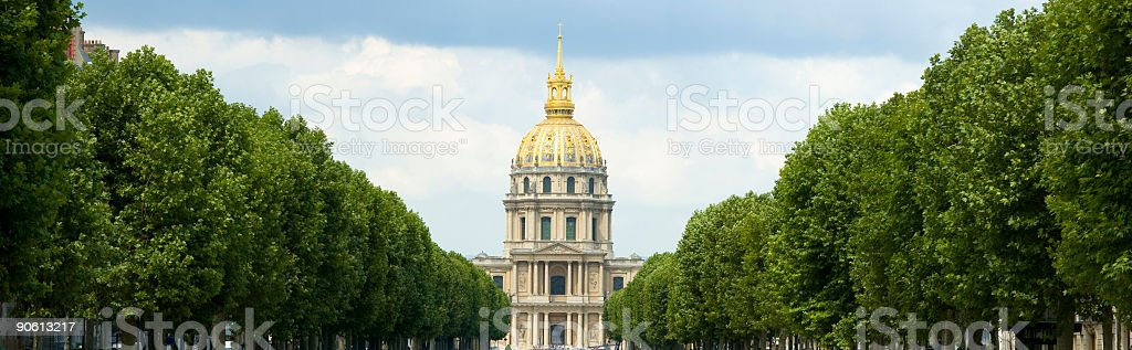 Dome of Les Invalides, Paris royalty-free stock photo
