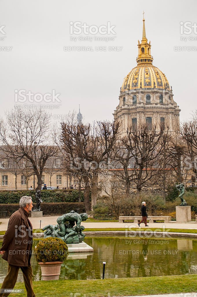 Dome of Les Invalides stock photo