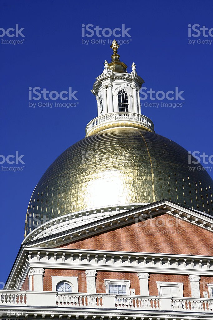 Dome of Massachusetts State House stock photo