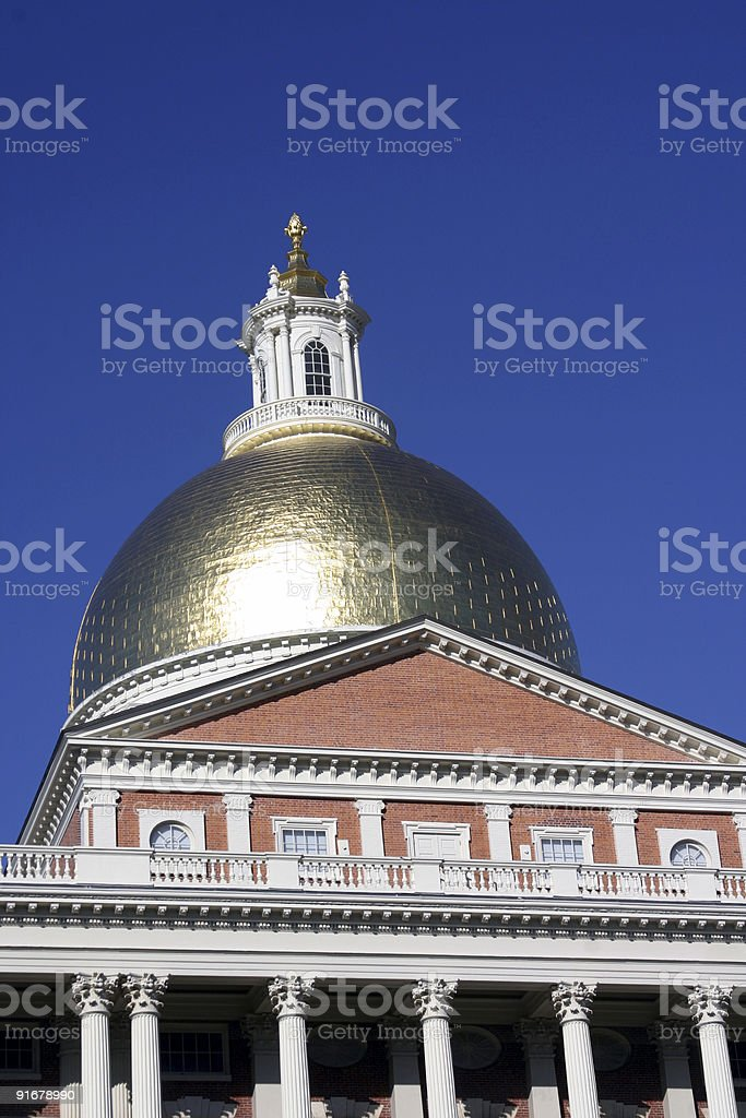 Dome of Massachusetts State House royalty-free stock photo