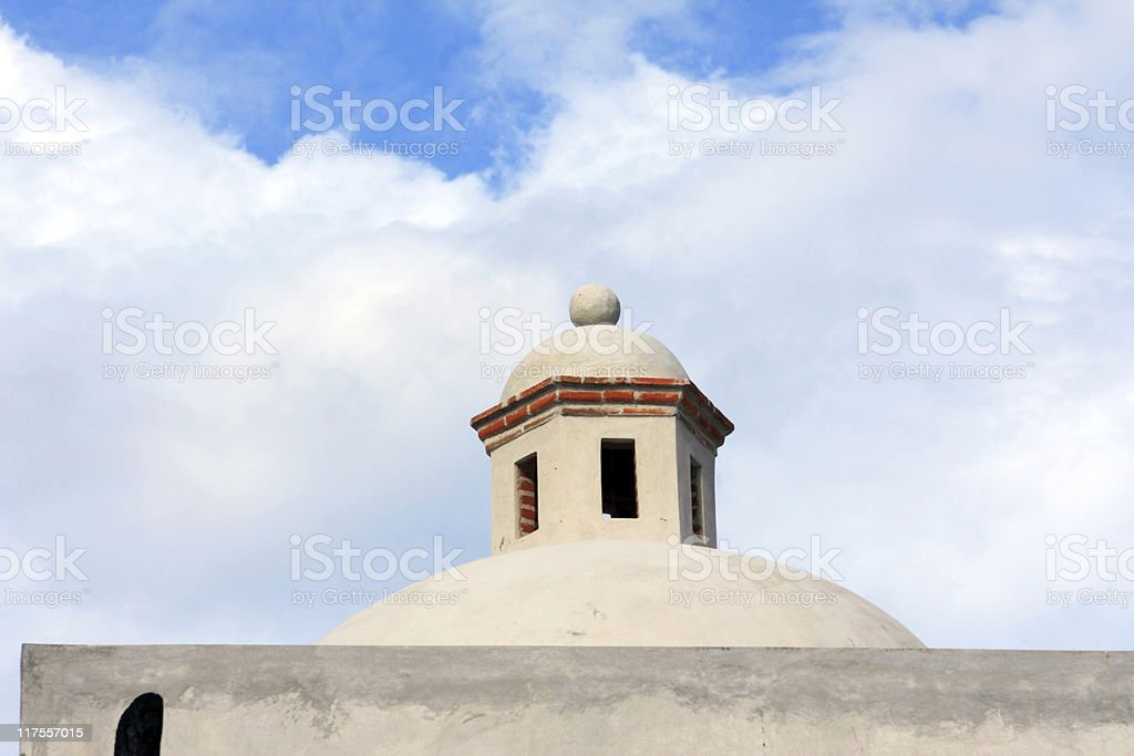 Dome of Mexican Stucco House royalty-free stock photo