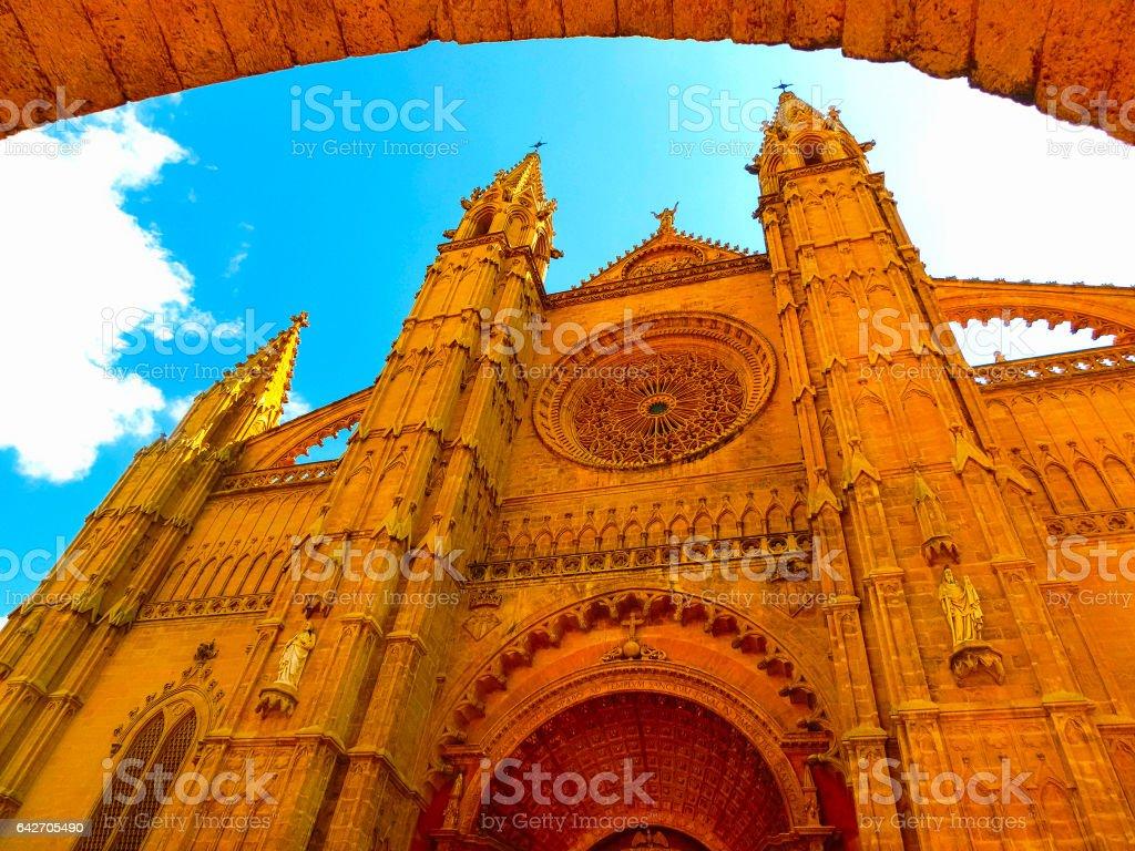 Dome of Palma de Mallorca, Spain stock photo