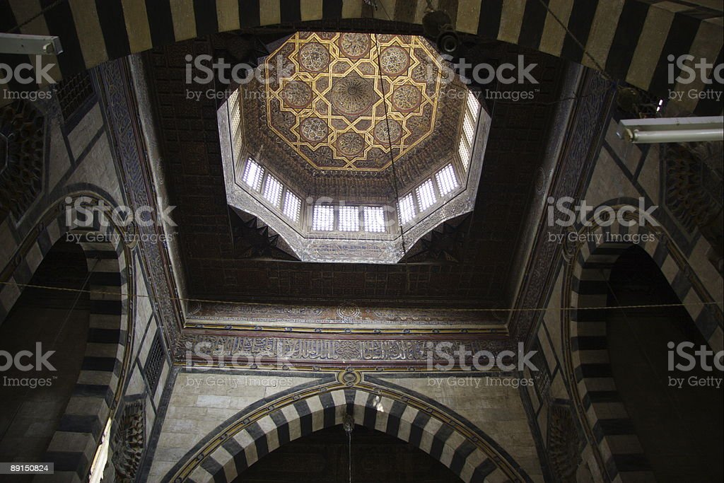 Dome of Qaetbay mosque stock photo