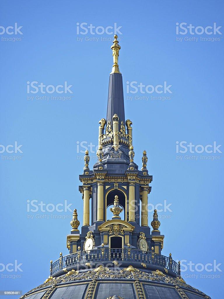 Dome of San Francisco City Hall royalty-free stock photo