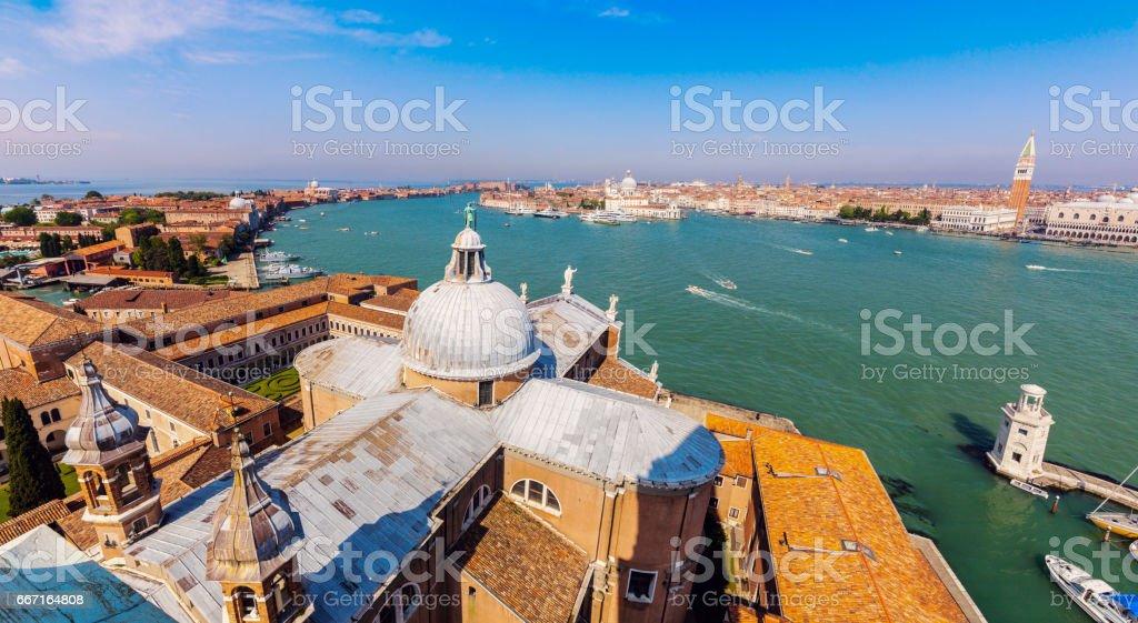 Dome of San Giorgio Maggiore Church stock photo