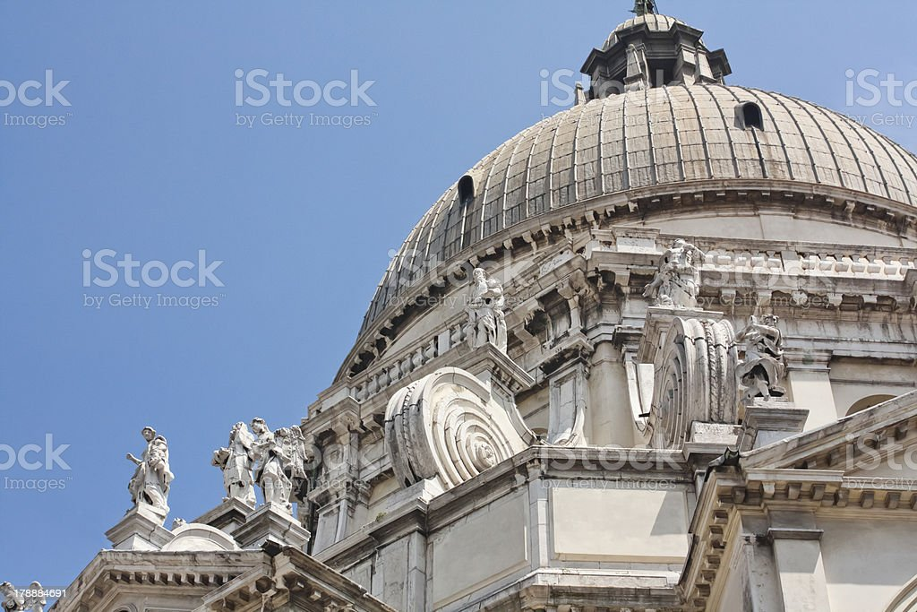 Dome of Santa María della salute, Venice. stock photo