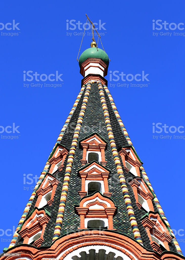Dome of St. Basil's Cathedral in Moscow stock photo
