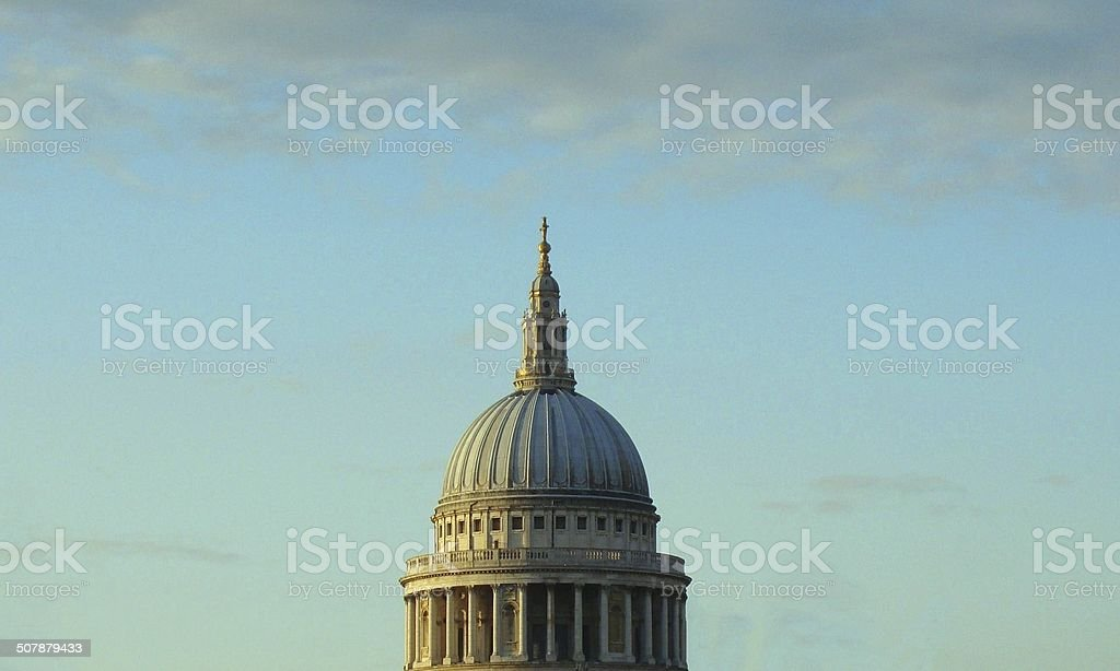 Dome of St. paul Cathedral in London stock photo