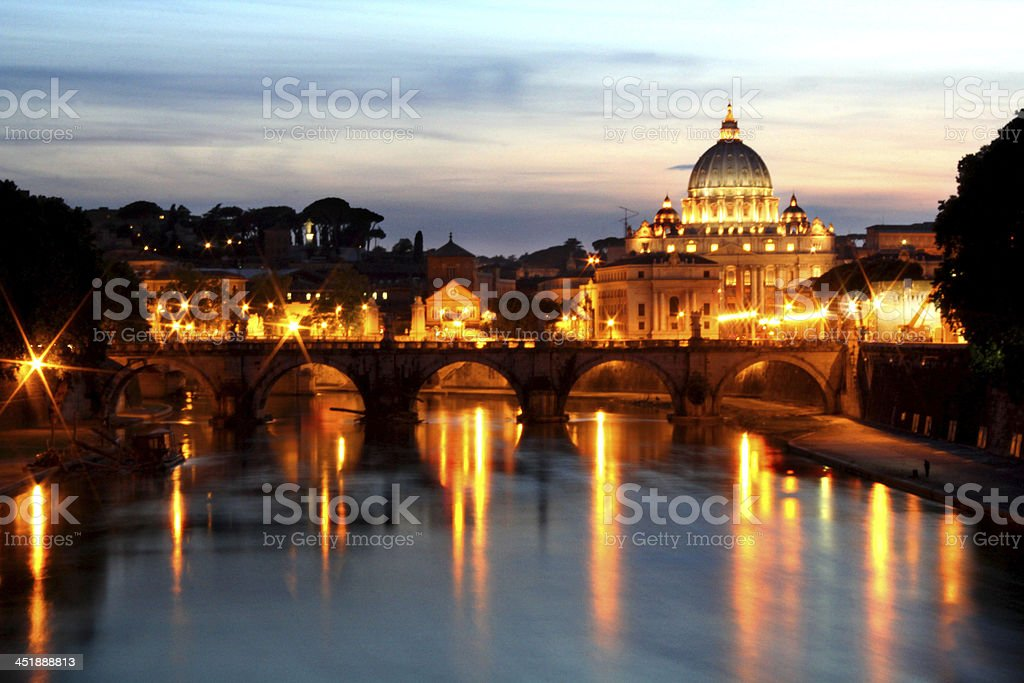 Dome of St. Peter's Basilica royalty-free stock photo