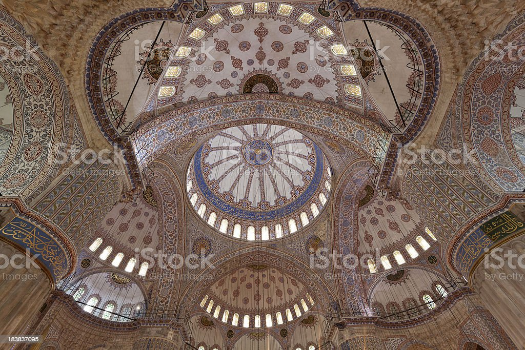 Dome of Sultan Ahmed Mosque in İstanbul.Turkey. royalty-free stock photo