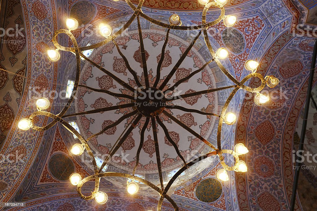 Dome of the Blue Mosque in Turkey Istanbul royalty-free stock photo