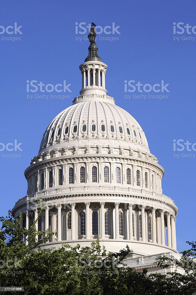 dome of the capitol building royalty-free stock photo