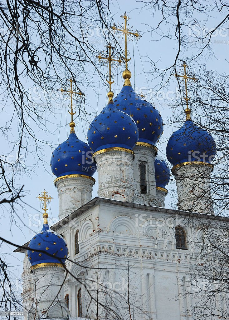 Dome of the cathedral in Kolomenskoe, Moscow royalty-free stock photo