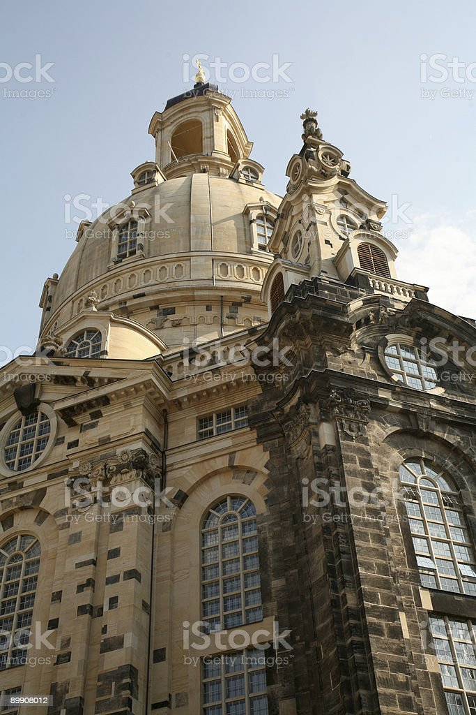 Dome of the Frauenkirche in Dresden stock photo
