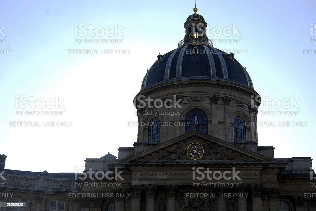 Dome of the Institut de France, Paris royalty-free stock photo