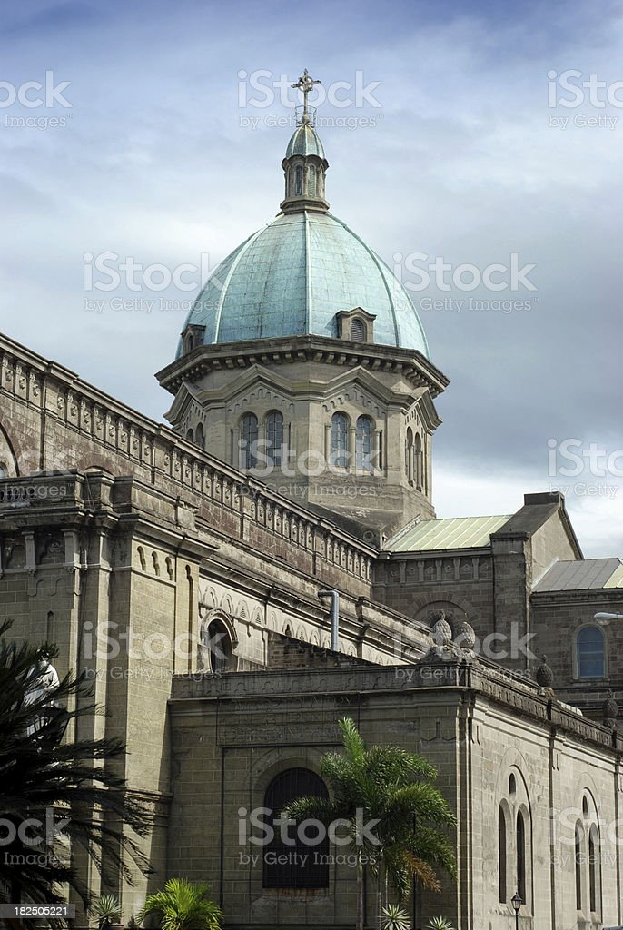 Dome of the Manila Cathedral, Philippines royalty-free stock photo