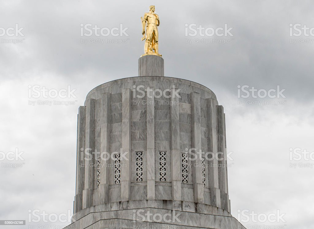 Dome of the Oregon Capitol stock photo