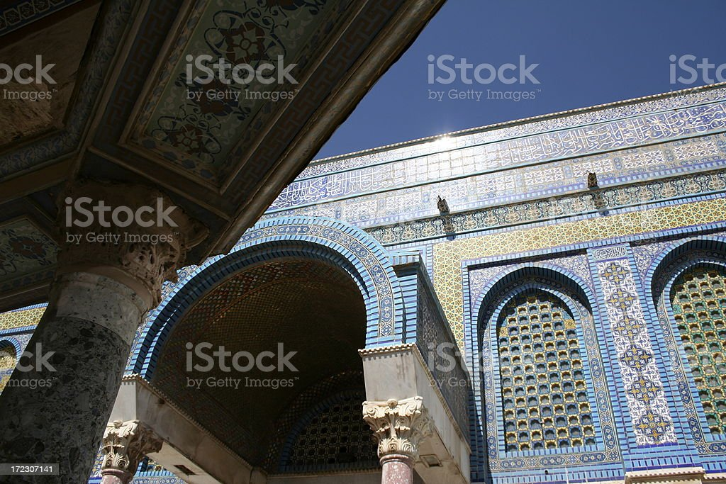 Dome of the Rock Arch stock photo