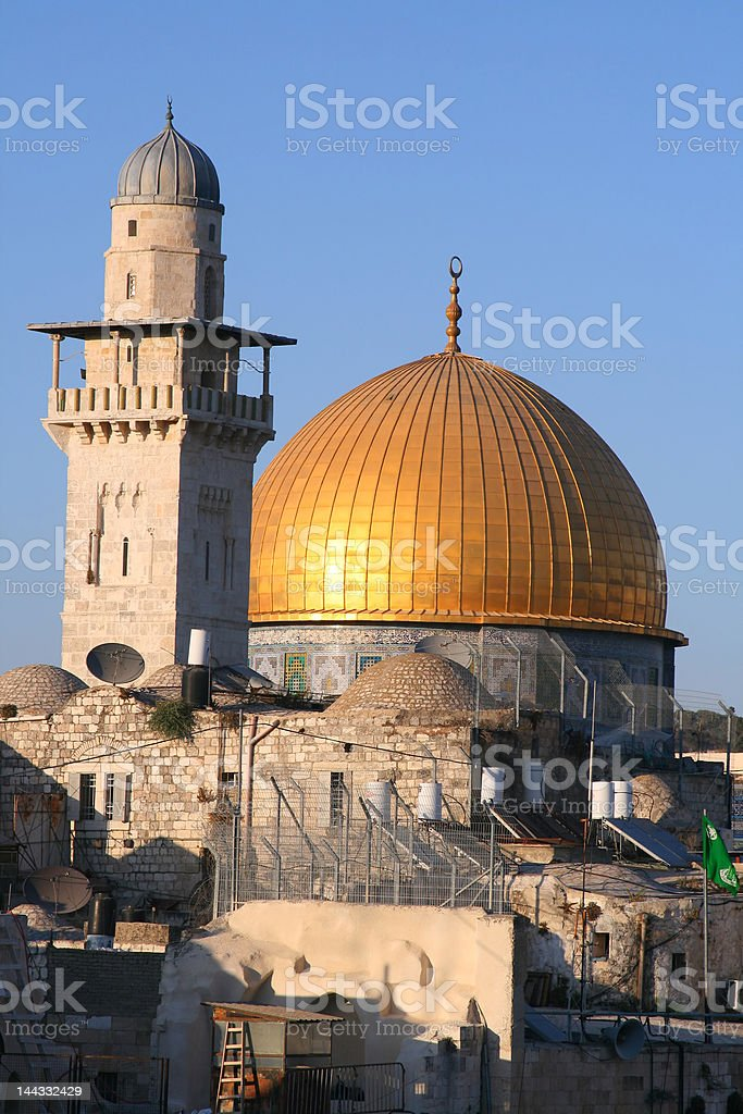 Dome of the Rock at Sunset, Jerusalem royalty-free stock photo