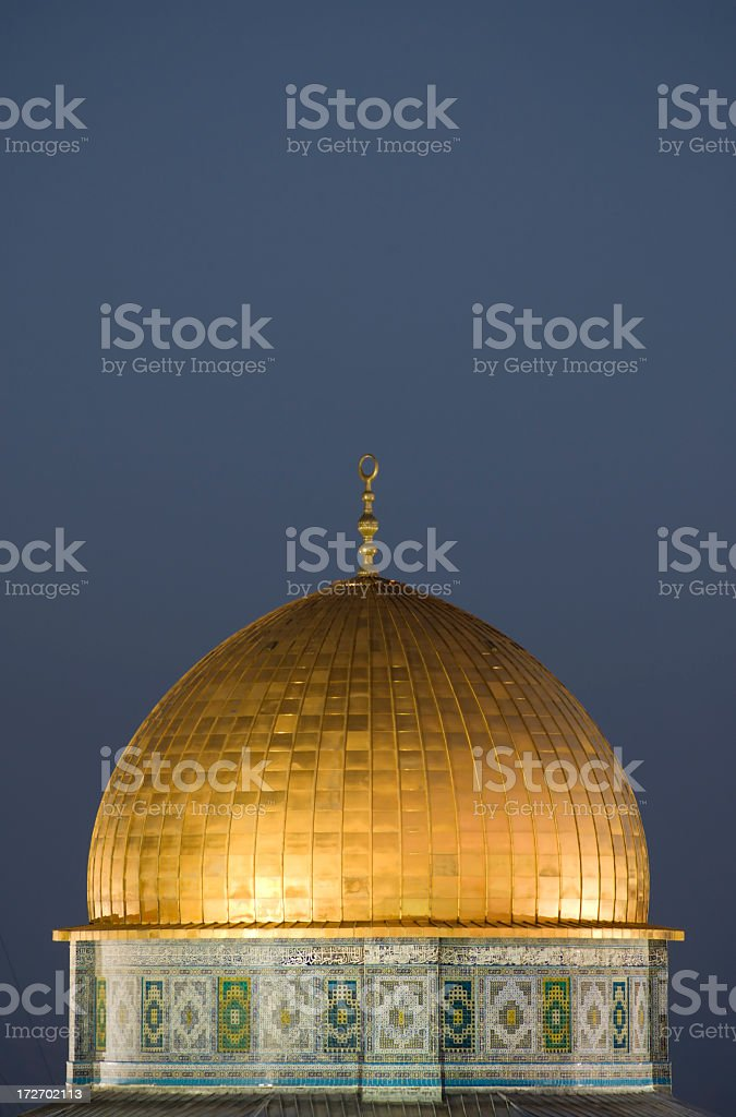 Dome of the Rock at Sunset royalty-free stock photo