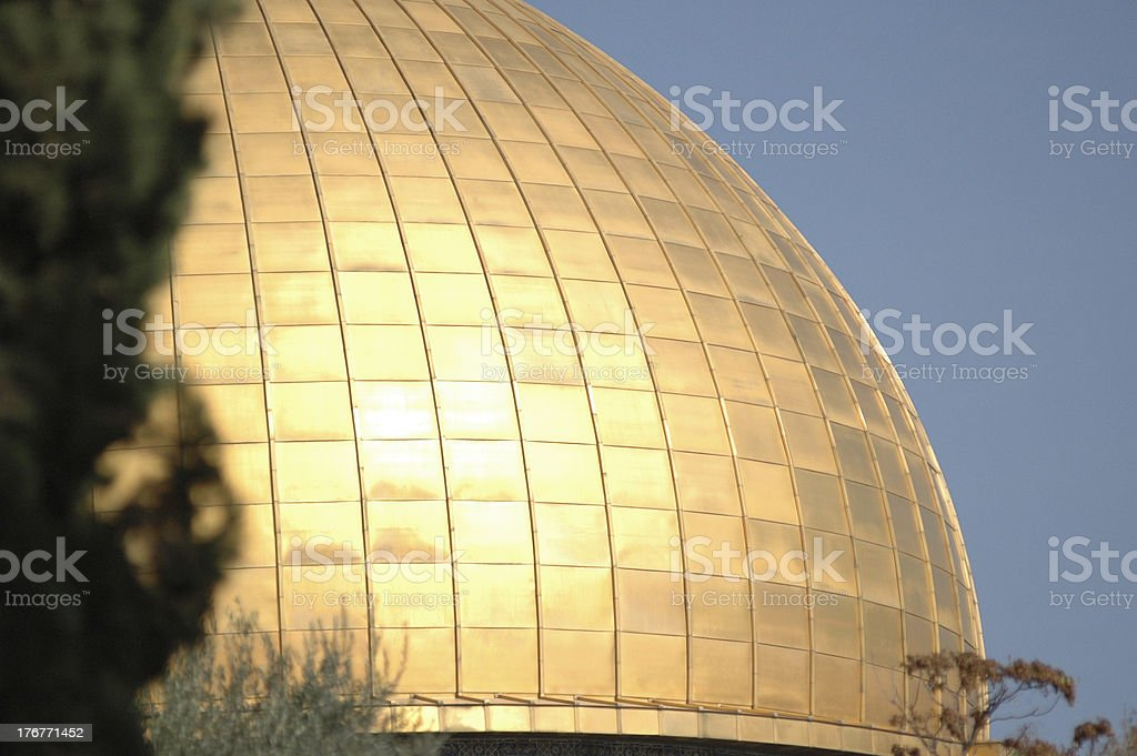 Dome of the Rock Close Up stock photo