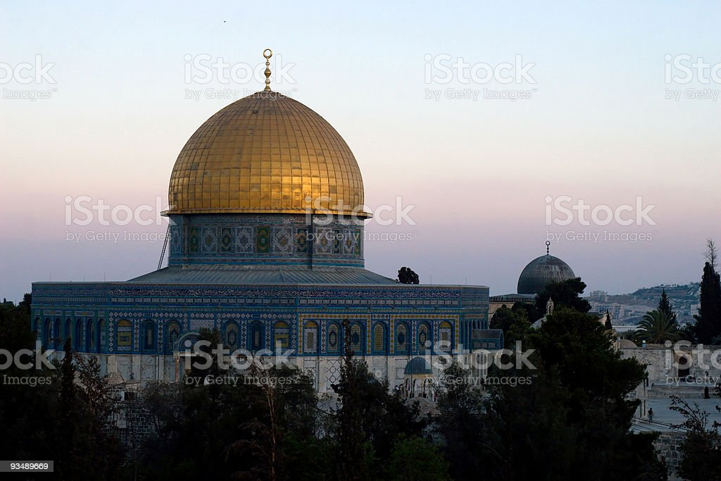 Dome Of The Rock in Jerusalem, Israel royalty-free stock photo