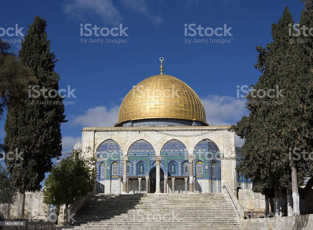Dome of the Rock in Jerusalem royalty-free stock photo