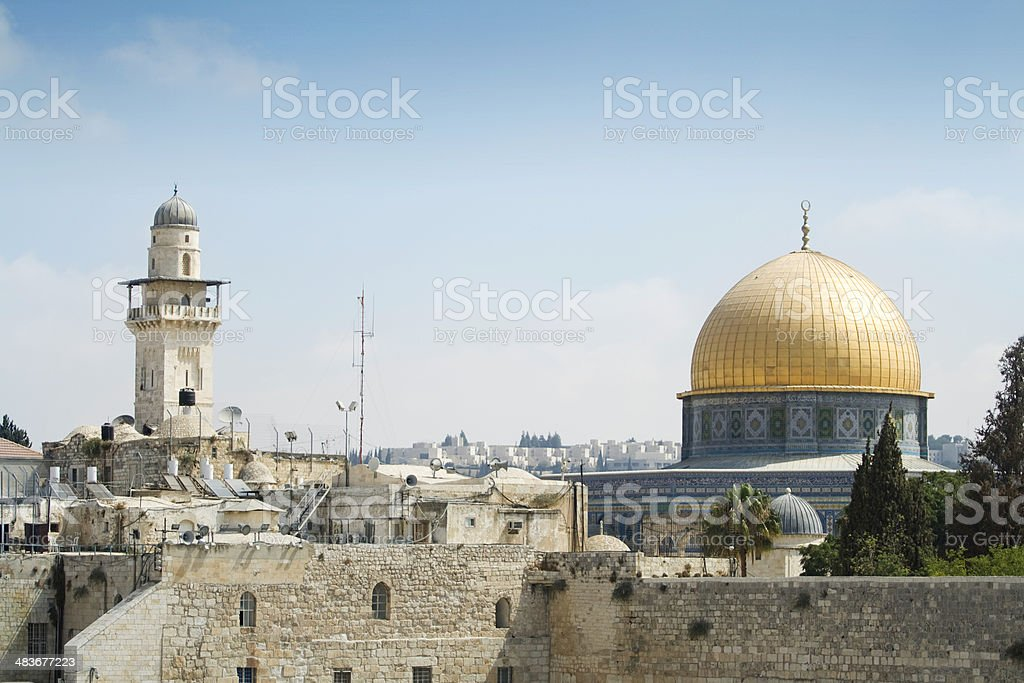 Dome of The Rock in Old Jerusalem royalty-free stock photo