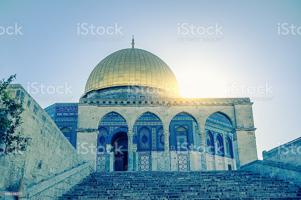 Dome of the Rock, Jerusalem, Israel stock photo