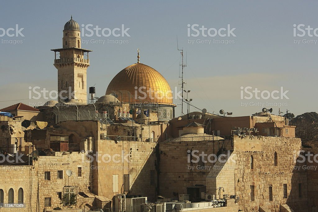 Dome of the Rock, Jerusalem, Israel royalty-free stock photo